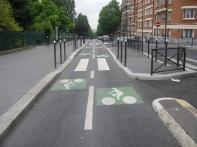 Une piste cyclable